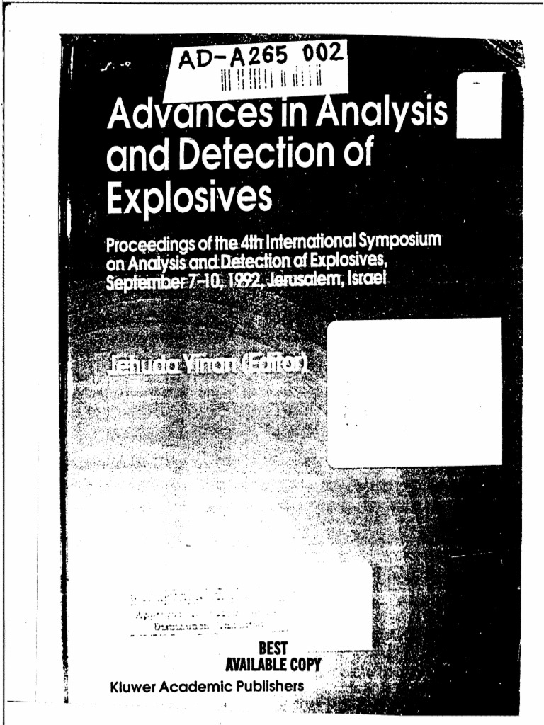 advaaces in analysis and detection of explosives forensic science