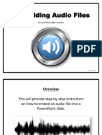 how to embed audio into a powerpoint