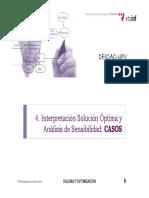Interpretacion y Analisis de la programación lineal