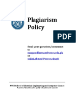 SEECS Plagiarism Policy Dec2010 v1.0