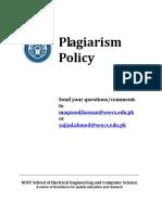 SEECS Plagiarism Policy Dec2010 v1.0