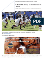 GOING THROUGH the MOTIONS_ Setting Up Your Defense to Counteract Pre-Snap Motion - AFCA Weekly