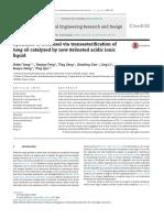 10) Síntesis de Biodiesel Mediante Transesterificación de Aceitede Tung Catalizado Por El Nuevo Líquido Iónico Ácido Brönsted (Español)