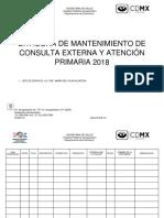 Bitácora de Mantenimiento de Consulta Externa y Atención Primaria 2018