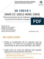 ISO 10012 Metrologia