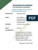 Ley Del Fortalecimiento de Las Cadenas Productivas