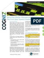 Securities Master Management Solution the First Step Toward Credible STP
