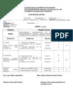 Plan de Evaluacion Quimica 1