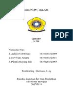 Ekonomi Islam Kelompok 10