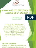 Campaña de Eco Eficiencia Del Ahorro de Laenergia