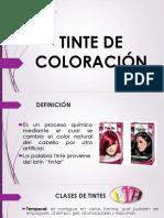 Tinte de Coloración