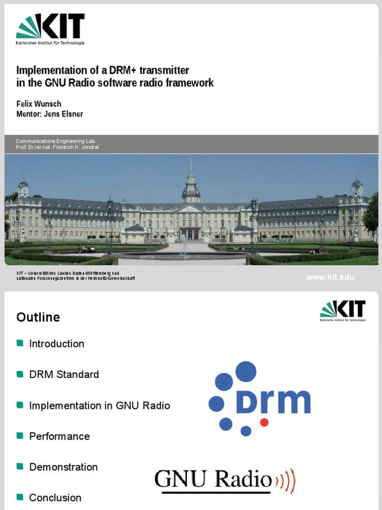 Drm Transmitter Presentation | Telecommunications