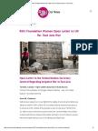 RINJ Foundation Women Open Letter to UN Re