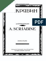 Scriabin Late Works