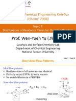 Topic 7 Distributions of Residence Times for Chemical Reactors