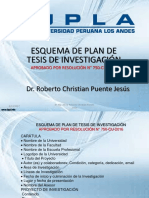 Esquema de Plan de Tesis de La Upla 2017
