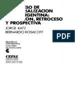 3. Proc de Industrializacion. Katz y Kosacoff (Cap III)