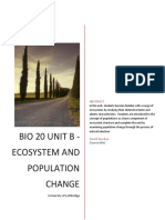 bio 20 unit b - ecosystem and population change