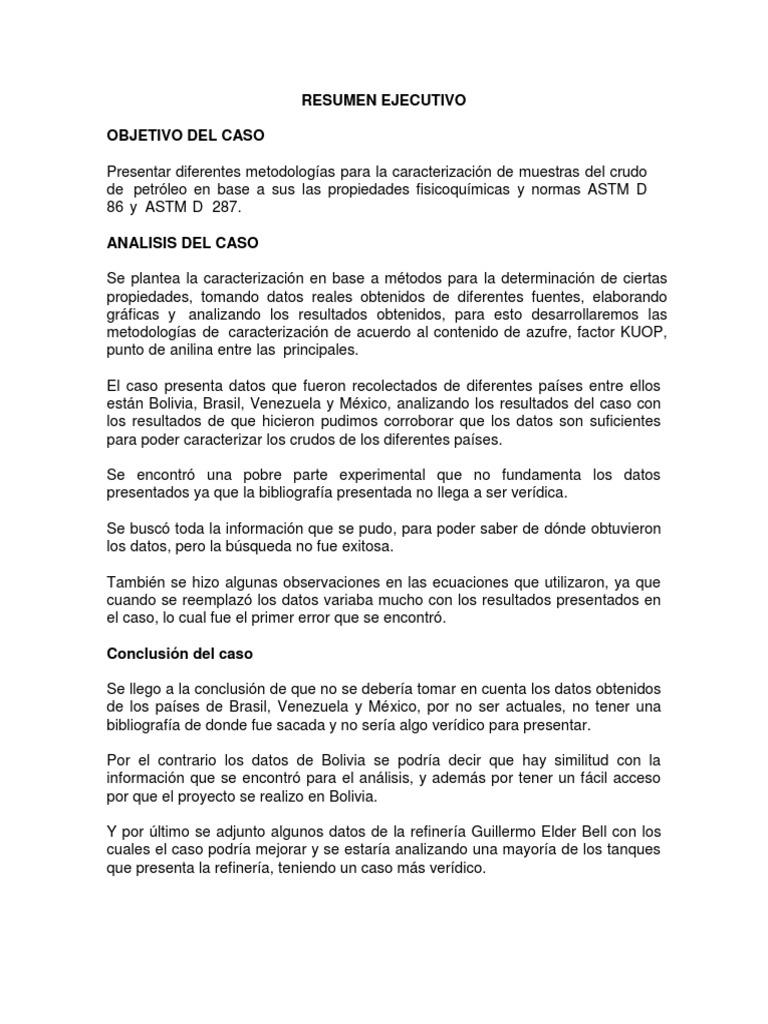 Contemporáneo Resumen Ejecutivo Resume Muestras Patrón - Colección ...