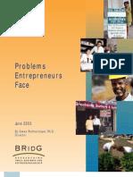 Problems Entrepreneurs Face