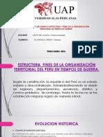 Estructura y Fines de La Organización Territorial Del Peru