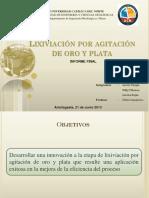 UCN Lixiviacion Por Agitacion de Oro y Plata Ppt Fina NALCO 9762