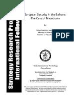 European Security in the Balkans