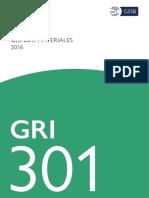 Spanish GRI 301 Materials 2016
