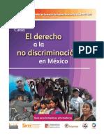 Fce 10 Guia Form. El derecho a la no discriminación en México
