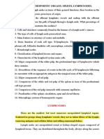 Histology - Immune and hemopoietic organs