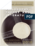 Philosophy, Theory, and Literature 2018 Catalog
