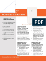 Bentel Bgs 220 Spec Sheet a4 En