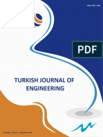 Turkish Journal of Engineering TUJE Volume 2 Issue 1 (January 2018)
