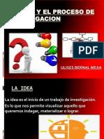 La Idea y El Proceso de Investigacion