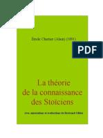 Alain Theorie Stoiciens
