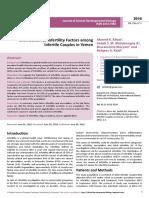 Distribution of Infertility Factors Among Infertile Couples in Yemen