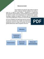 Ministerio de Salud- Misión-Visión- Planes u Objetivos de Desarrollo