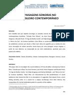 Silêncios e Paisagens Sonoras No Cinema Brasileiro Contemporâneo