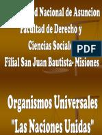 Lección 12 Organización Universal. Generalidades