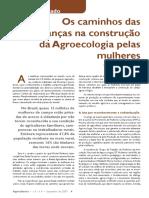 Artigo 1 Os Caminhos Das Mudanças Na Construção Da Agroecologia Pelas Mulheres