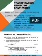 Evapotranspiracion Metodo de Thornthwaite Tema 05