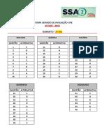 Gabarito do Vestibular SSA 2 - 2º Dia 2018