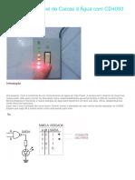 Medidor de Nível de Caixas d Água Com CD4093