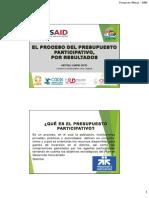 Microsoft Powerpoint - Presupuesto Participativo Municipal
