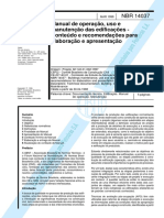 NBR 14037 - 1998 - Manual de Operação, Uso e Manutenção Das