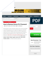 How to Remove Omron PLC Password _ Automation-Talk.pdf