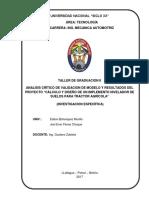 Caratula de Tller de Graduacion