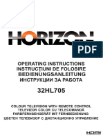 Horizon 32HL705 User Manual