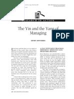 Mintzberg 2001 Organizational-Dynamics