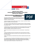 Senate Calls for Royal Commission Into Violence and Abuse of Pwd Dec 2017 Carol Brown Media Release